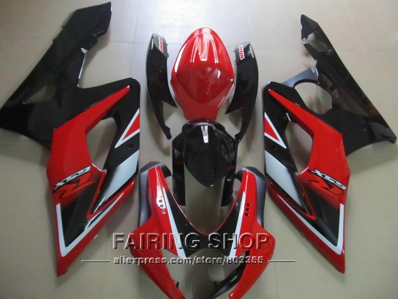 Injection motorbike fairing kit for Suzuki GSXR1000 K5 K6 2005 2006 red black fairings set GSXR 1000 05 06 IK02 injection molding custom for 2005 suzuki gsxr 1000 fairings k5 2006 gsxr 1000 fairing 05 06 glossy black with dark blue dw11