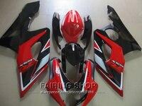 Injection motorbike fairing kit for Suzuki GSXR1000 K5 K6 2005 2006 red black fairings set GSXR 1000 05 06 IK02