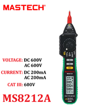 Pen-Type Digital Multimeter Multimetro DC AC Voltage Current Tester Diode Continuity Logic Non-contact Voltage MASTECH MS8212A