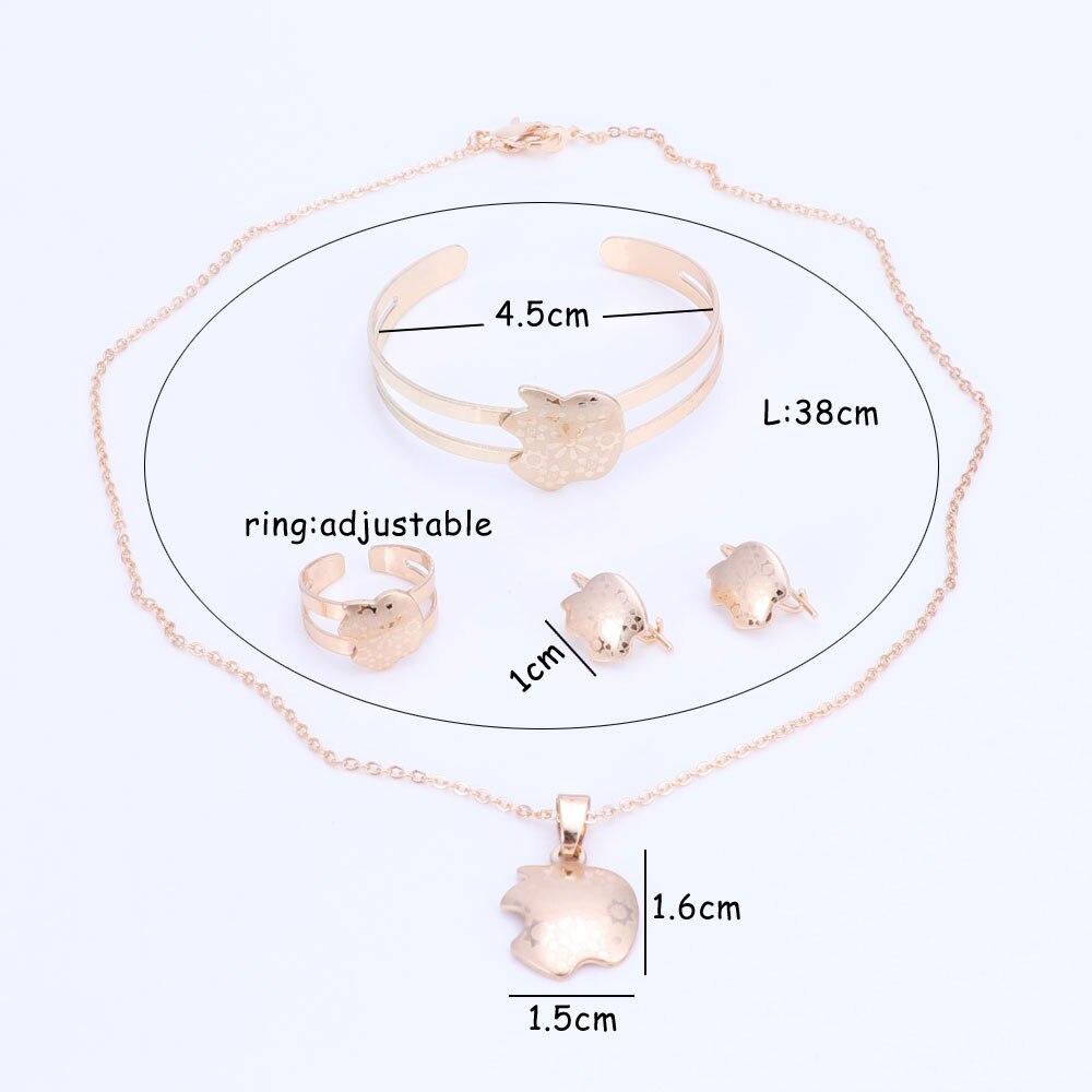 Guldfärg baby smycken set gåva barn smycken set barn smycken ring - Märkessmycken - Foto 6