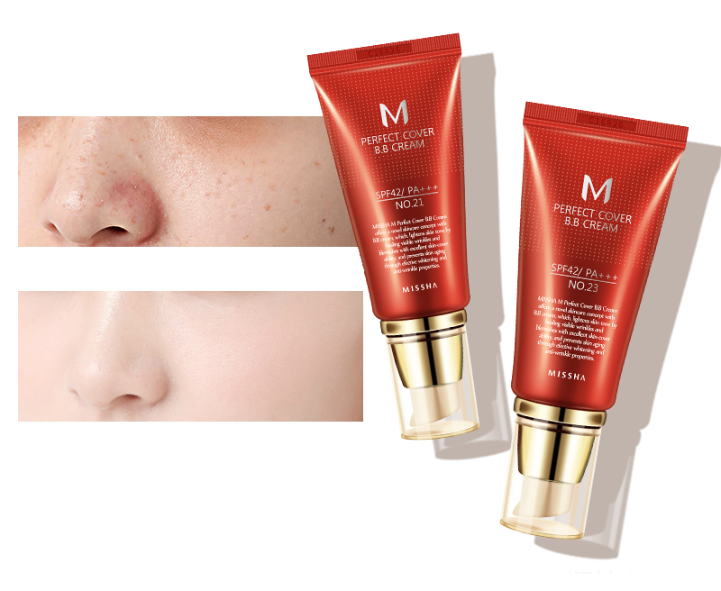 Оригинальная корейская косметика MISSHA M идеальное покрытие BB крем 50 мл SPF42 PA+++(#13,#21,#23,#31) тональный крем для макияжа CC Cream