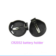 Wholesale 300pcs 3V button cell holder CR2032 CR2025 CR2016 battery case snap High quality Free shipping