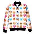 Bomber Jacket Man Winter Long Sleeve 3D Emoji Animal Printed Sweatshirt Soft Warm Round Neck Coat Unisex Jacket Tattoo Printed