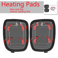 6Pcs Set Glass Heating Demister Pads Car Side Mirror Heater Defogger Custom With Switch Universal DC