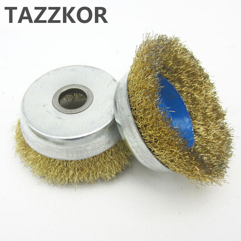 Grinding Wire Brush Metal Rust Removal Rust Polishing Wheel Copper Wire Wheels Rims Steel Wheel Brush For Angle Grinders 1pcs