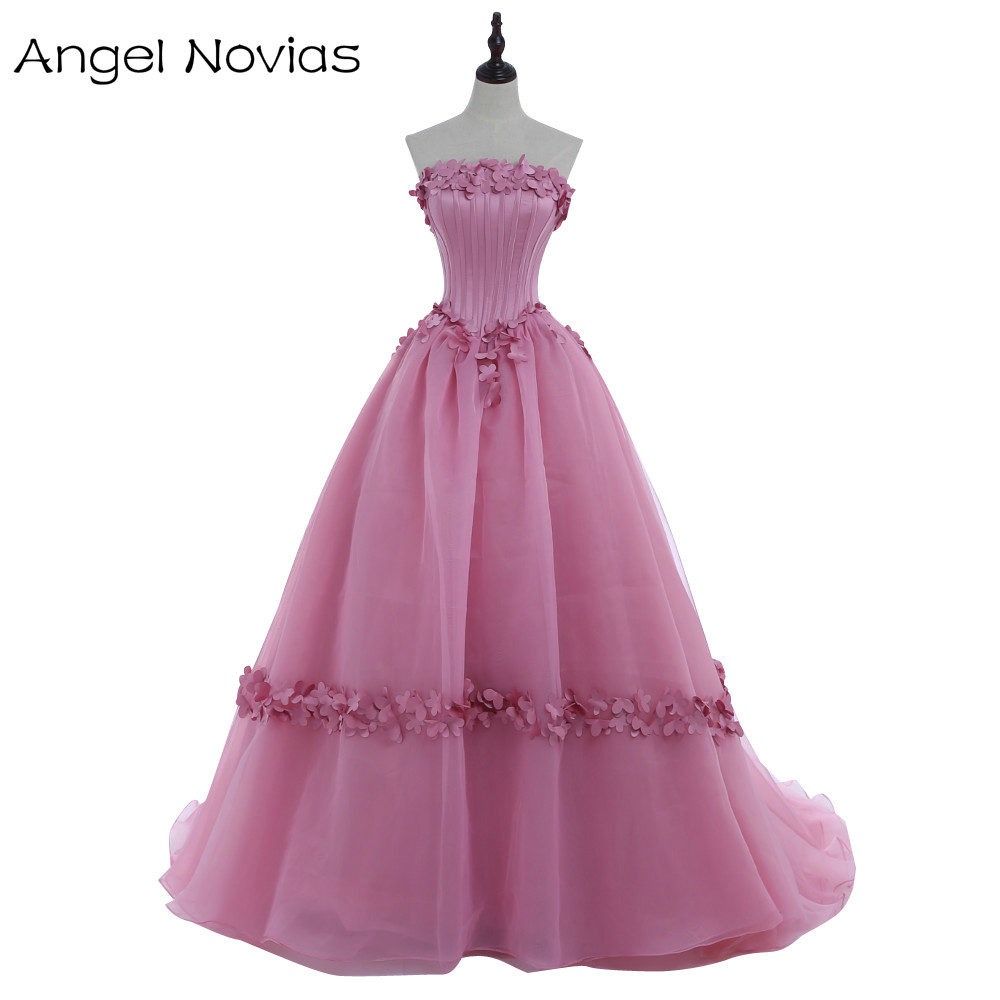 ⓪Saudi Arab Dubai Long Puffy Ball Gown Evening Dresses 2017 Lace Up ...