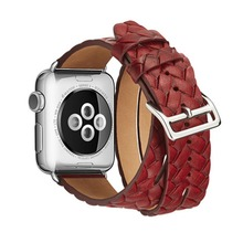 цены OSRUI Leather Loop For Apple watch band 42mm 38mm iWatch strap Series 3 2 1 wrist bands Bracelet belt Double Tour watchband