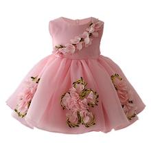 2e483d912 Vestidos de bebé niña vestidos para fiesta de boda-0-1-2-3-4-5 años los  niños niñas vestido de cumpleaños de 3D flor princesa ve.