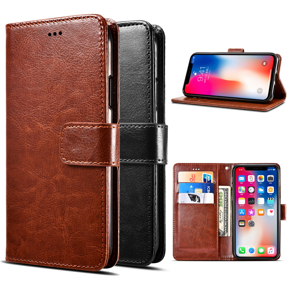 Huawei Honor 8a 8x 8c 7x 7s 7a 7c Pro Cover Leather Wallet Cases On The Huawey 7 8 X S A C A8 X8 A7 C7 7apro Flip Phone Bag Case(China)