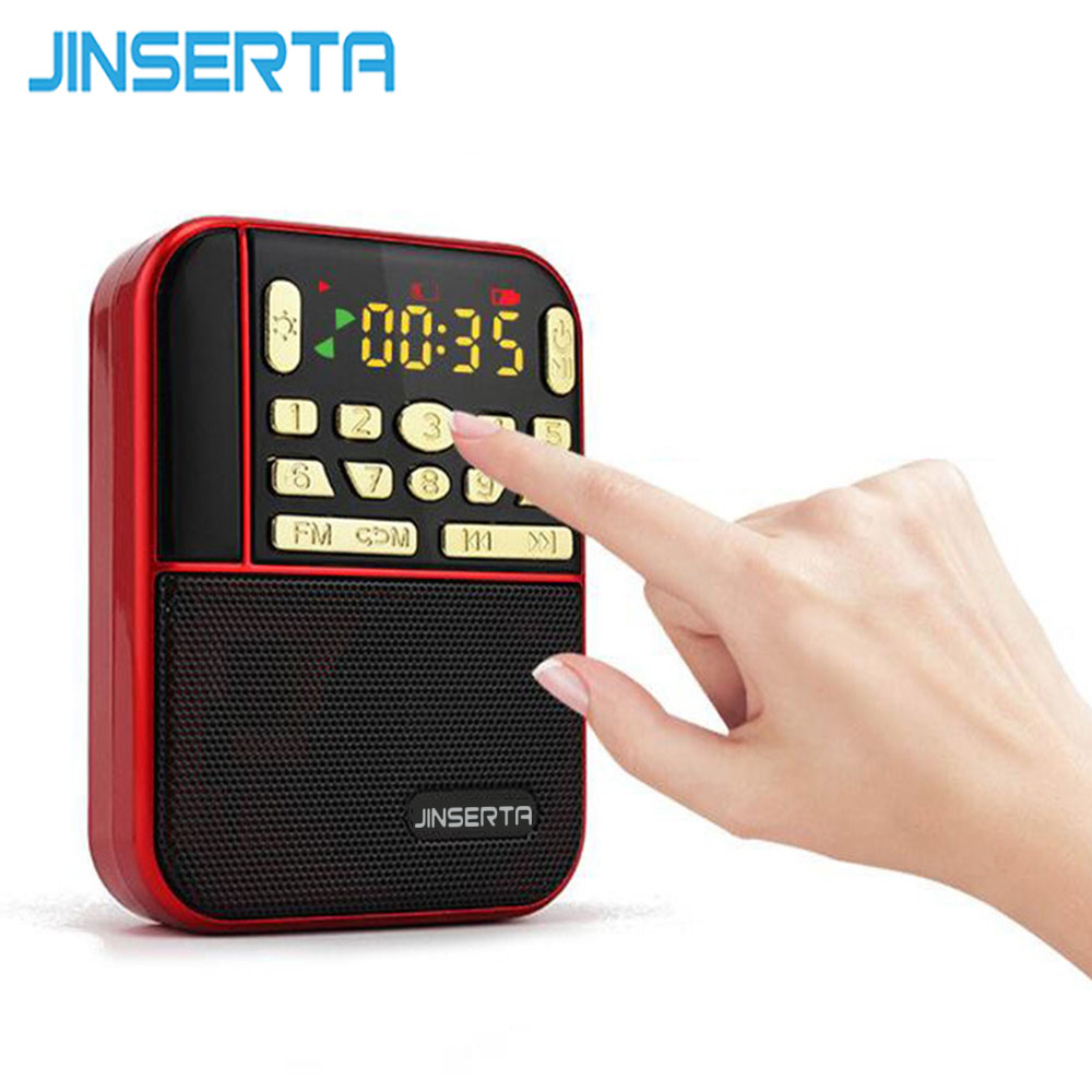 JINSERTA Mini Fm Pocket Stereo Radio Portable Micro Sd Radios Fashion Band Speaker Tf Usb Mp3 Speakers Fm Receiver Loudspeaker portable mini mp3 vibration speaker w fm usb tf remote controller black page 7