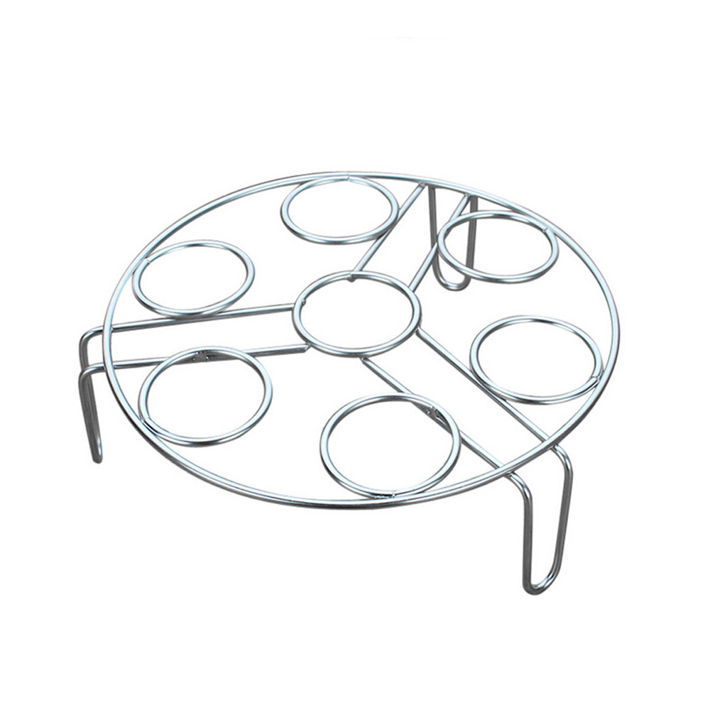 Saingace Steamer Rack Insert Stock Pot Steaming Tray Stand Stainless Steel Egg Steamers U71130