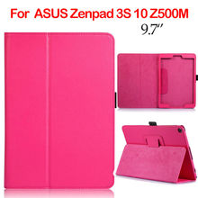 ZenPad 3S 10 Z500M PU Leather Case 9.7 inch Tablet Cover Slim Cases For ASUS Zenpad 3S 10 Z500M Protective Stand Auto Sleep Wake