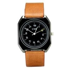 ЦМК Фирменная Новинка модные роскошные элегантные женские Часы Простой ультра тонкий циферблат Повседневное мужской Кварцевые часы человек часы наручные часы подарок