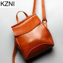 Kzni натуральная кожа кошелек женщин сумка женский рюкзак мешок основной Femme De MARQUE Bolsas feminina L123104