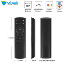 Vmade Voice control air mouse with voice microphone 2.4G wireless remote control support voice search For Smart tv/Android Box original rc602s voice search remote control for tcl tvs c70 x1 p60 x2 series uhd lcd tv 50p20us 65p20us 49c2us 55c2us controle