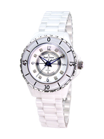 Royal Crown Jewelry Watch 3821L 5 Italy brand Diamond Japan MIYOTA J12 ceramic Fine Fashion Clock Bracelet Luxury Rhinestones