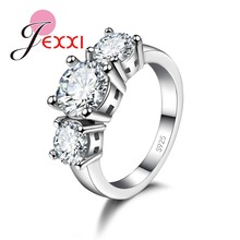 Unique Crystal Rings AAA 925 Sterling Silver Ring For Women CZ Crystal Jewelry Multi Optional Wedding Accessories(China)