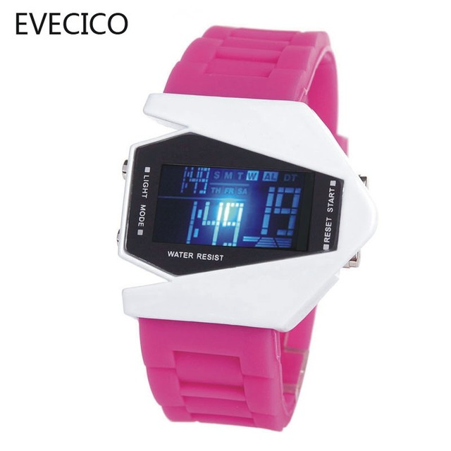 Personality male waterproof led watch electronic watch jelly child table vintage