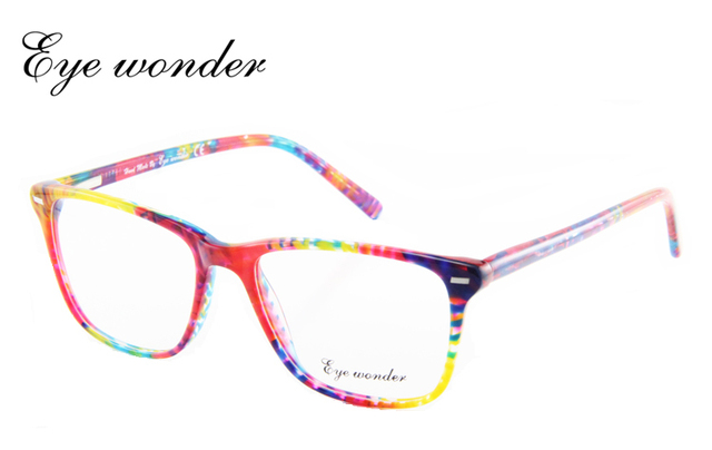 Eye wonder Fashion Lady's Large Square Demi Acetate Eye Glasses Frames Oculos Lunettes Gafas