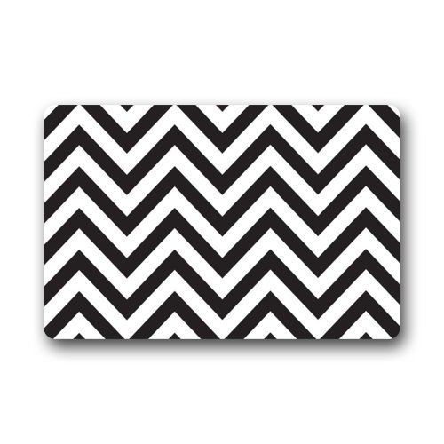 Chevron Kitchen Rug: CHARMHOME Door Mat Black And White Chevron Pattern Doormat
