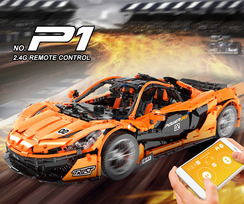 16915 super carro de corrida modelo blocos