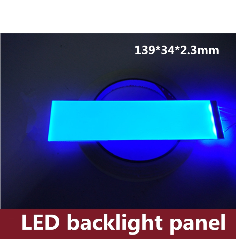 5PCS LED Backlight Panel 139*34*2.3mm Silk Printed Luminescent Board