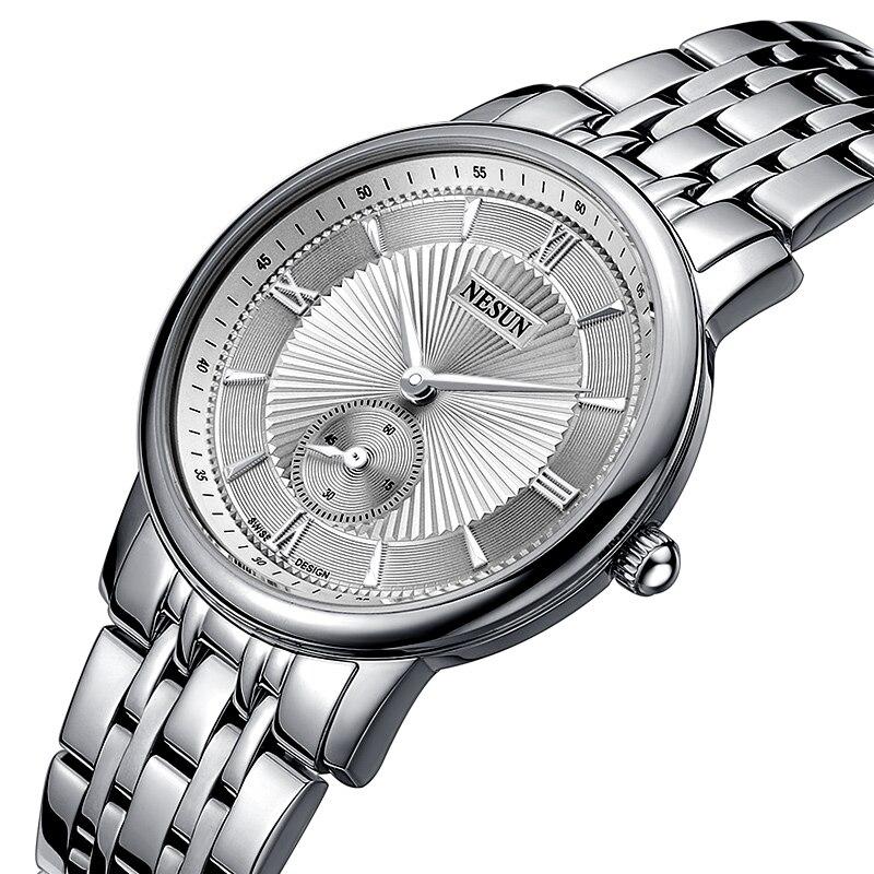 Nesun suisse montre de marque de luxe femmes japon miborough Quartz mouvement montres pour femmes en acier inoxydable Couple horloge N8501-SW1Nesun suisse montre de marque de luxe femmes japon miborough Quartz mouvement montres pour femmes en acier inoxydable Couple horloge N8501-SW1