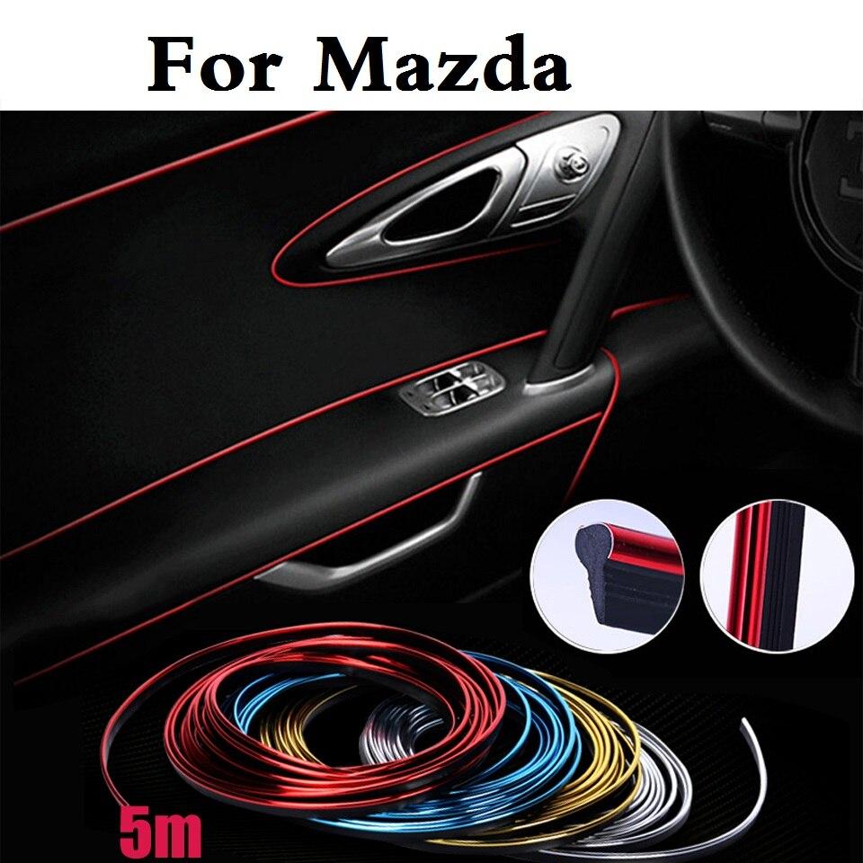5m car cold line decoration trims strips sticker for mazda demio laputa mx 5 proceed levante roadster rx 8 spiano tribute verisa in car stickers from