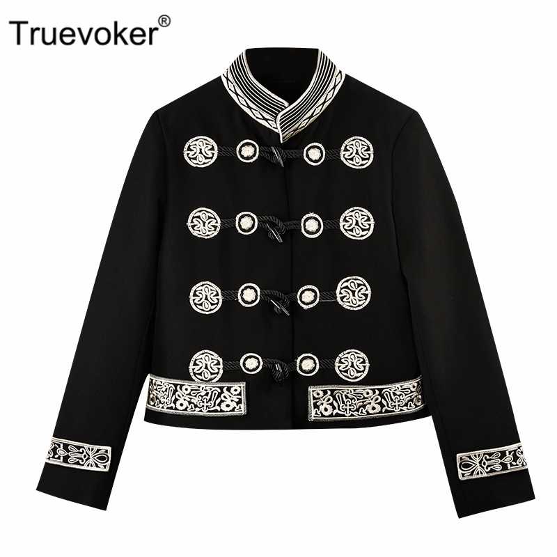 Truevoker Spring Designer Jacket Womens High Quality Long Sleeve Gorgeous Embroidery White Hollow Out Casual Top Cardigan Women's Clothing
