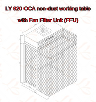 New LY 920 Standard OCA Non Dust Working Table With Fan Filter Unit FFU Size 1800