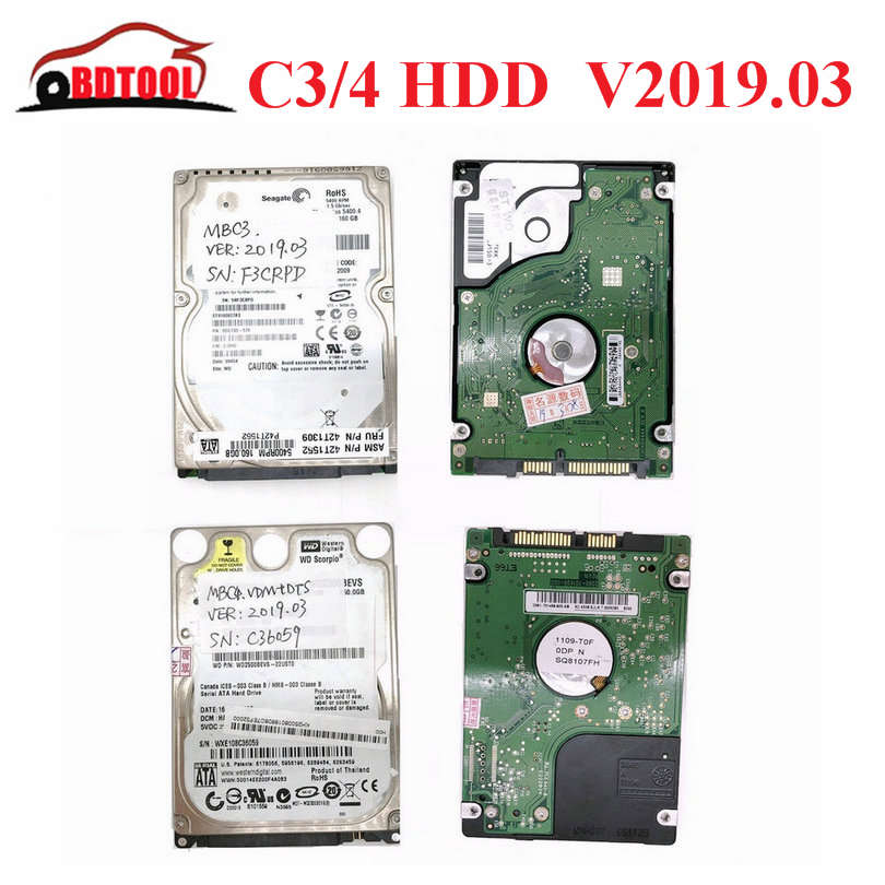 2019 Latest Version Full Software HDD/SSD for MB STAR C3/C4 V2019.03 Works D630 CF19 CF30 X200T Most of Laptop