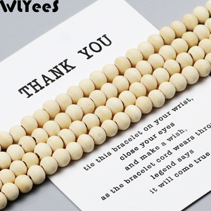 WLYeeS 2-300pcs Natural wood Spacer loose Beads 5-30mm ball for charm Bracelet Jewelry Necklace making DIY baby Roy wooden beads
