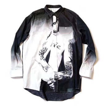 Vetements Manson Shirt Men Women 1:1 High Quality Summer Streetwear Vetements Portrait Shirts vetements T Shirt фото