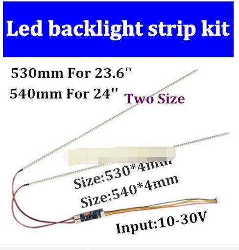 15set 23 6 530mm 15set 540mm 24 Adjustable brightness led backlight strip kit Update inch LCD