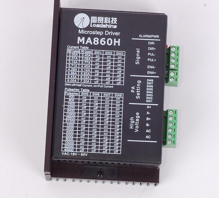 MA860H Leadshine 256 Microstep Driver 2 phase 7.2A AC18-80V ajustement 57 86 110 Moteur pas à pas de Nouvelle