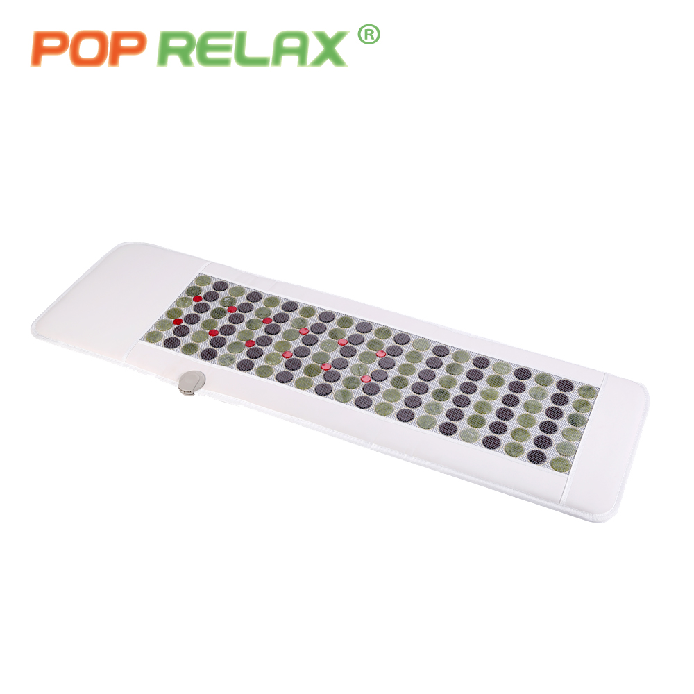 POP RELAX Korea technology health mattress magnet FIR red LED photon light therapy jade tourmaline heating massage mat mattress pop relax 110v health massage mat stone mattress red photon light therapy tourmaline maifan body pain relief heating mattress