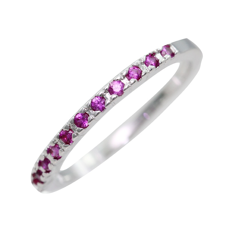 Wedding Jewelry Fianit Silver Rings for Women Purple Red Cubic ...