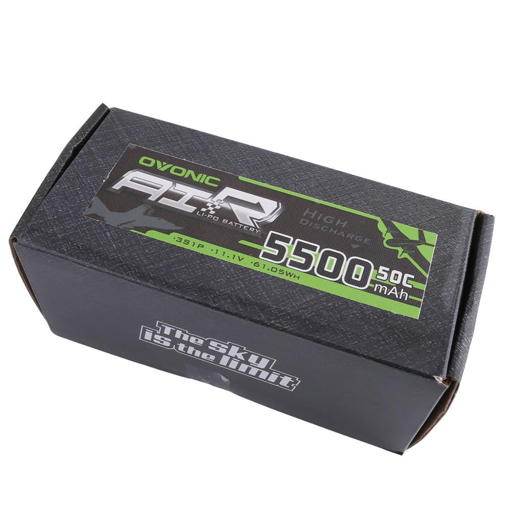 ▻2X Ovonic LiPo Battery 5500mAh 11.1V LiPo 3S 50C Battery