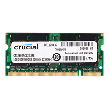 Crucial  laptop RAM DDR2 533MHZ 1.8V 4CL 200pin 1GB 2GB Laptop Memory ddr2 2GB=2PCS*1G PC2-4200S lifetime warranty for samsung ddr2 1gb 2gb 667mhz pc2 5300s original authentic ddr 2 1g notebook memory laptop ram 200pin sodimm