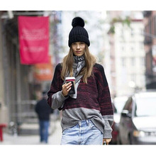 5 Colors Hot Beanie Women Hat Brand Warm Comfortable High Quality Woman Winter Hats for women #112401