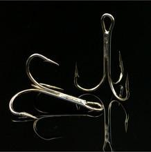 Lot 100pcs Fishing Hook Sharpened Treble high carbon steel Hooks Barbed Fishhook 1/0#, 2/0#, 3/0#, 1#,2#.3#,4#,6#,8#,10#,12#