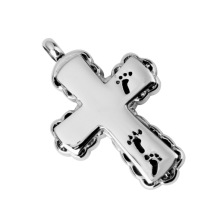 Cross with Footprints Memorial Pendant