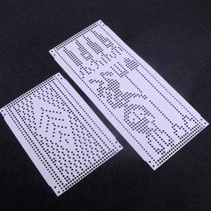 Image 3 - LETAOSK Plastic 15pcs Set Pre Punched Card Kit Fit for Brother KH260 Knitting Needlework Machine 24 Stitch Pattern