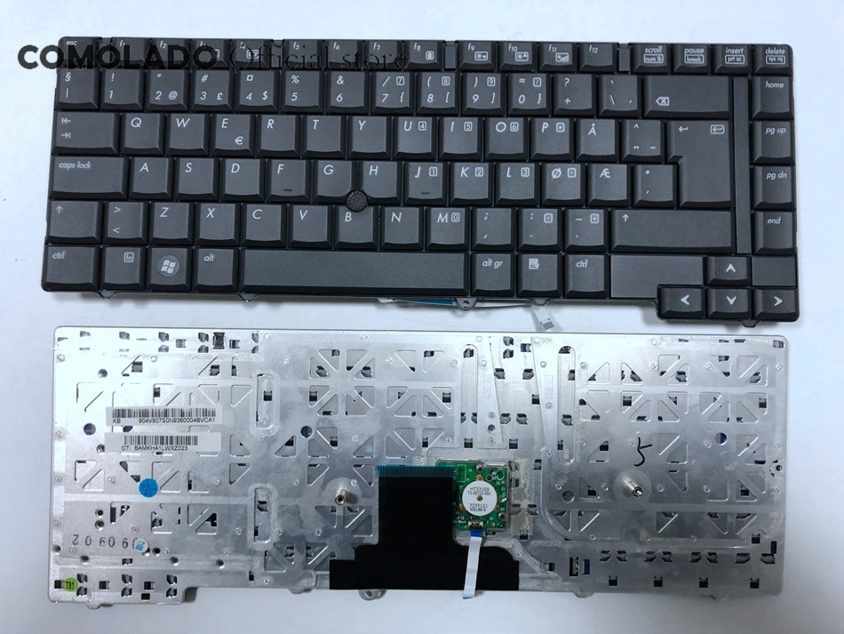 NW Norway Laptop Keyboard For HP 8530 8530W 8530P With pointing stick laptop keyboard NW Layout image