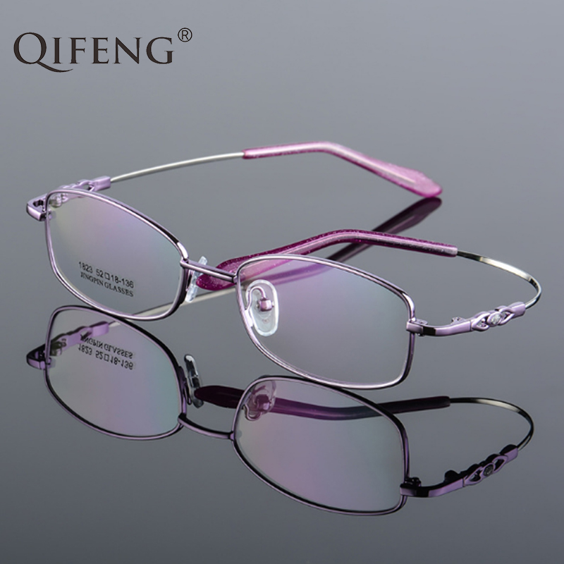 QIFENG Spectacle Frame Eyeglasses Women Computer Optical Prescription Myopia Female Transparent Clear Lens Glasses QF245