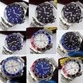 Neue Ankunft 43mm Bliger Sterile Zifferblatt Sapphire Glas Super Luminous keine logo Top Luxus Marke GMT Automatische bewegung männer der Uhr