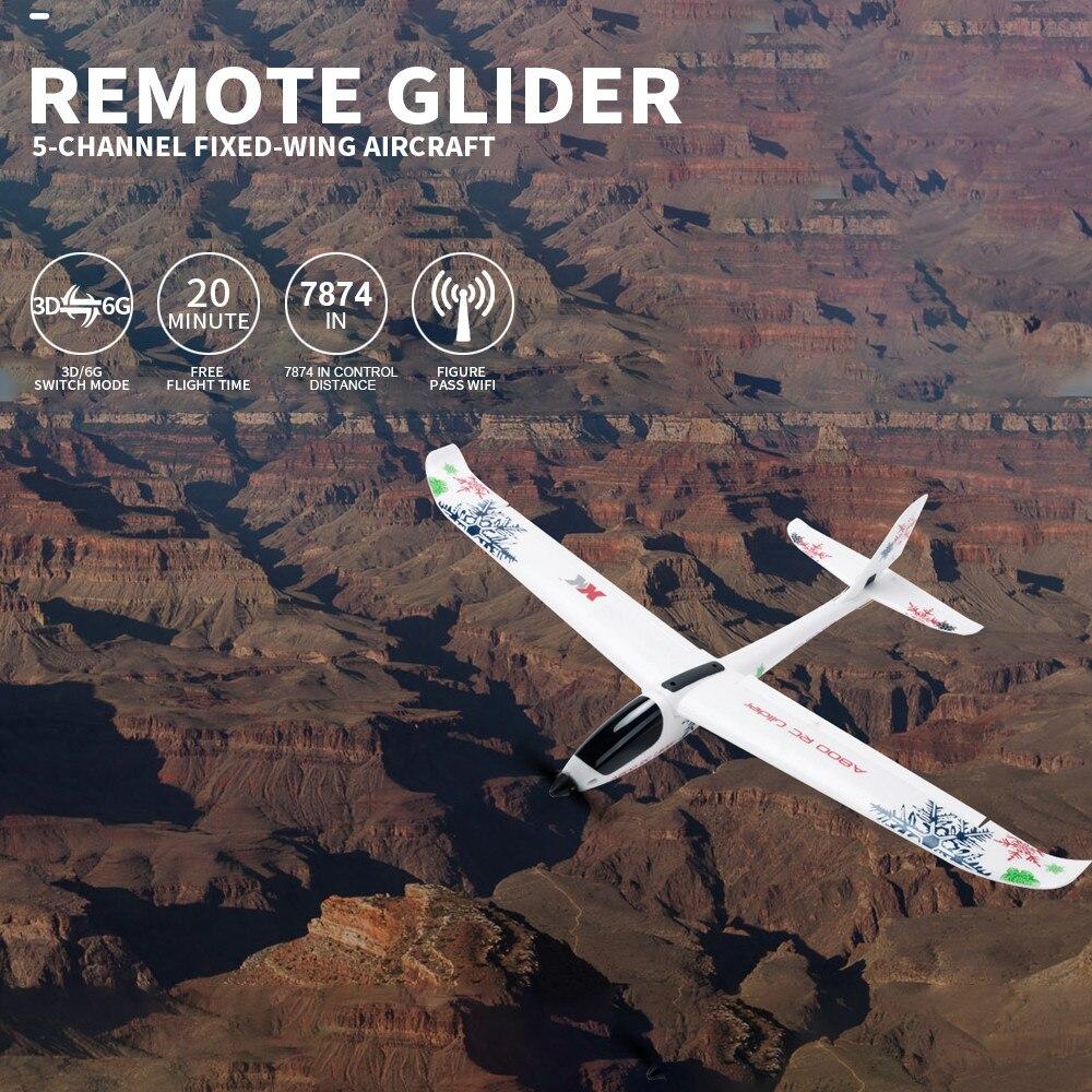 MUQGEW WL XK-A800 EPO aile fixe 5CH planeur envergure 780mm télécommande avion