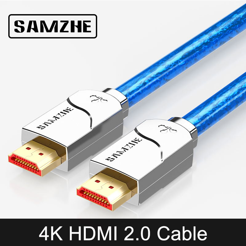 SAMZHE 4K UHD HDMI Cable High Resolution Digital Cable 3840*2160 HDMI for Laptop and TV Box Connect to Big Screen DisplayerSAMZHE 4K UHD HDMI Cable High Resolution Digital Cable 3840*2160 HDMI for Laptop and TV Box Connect to Big Screen Displayer