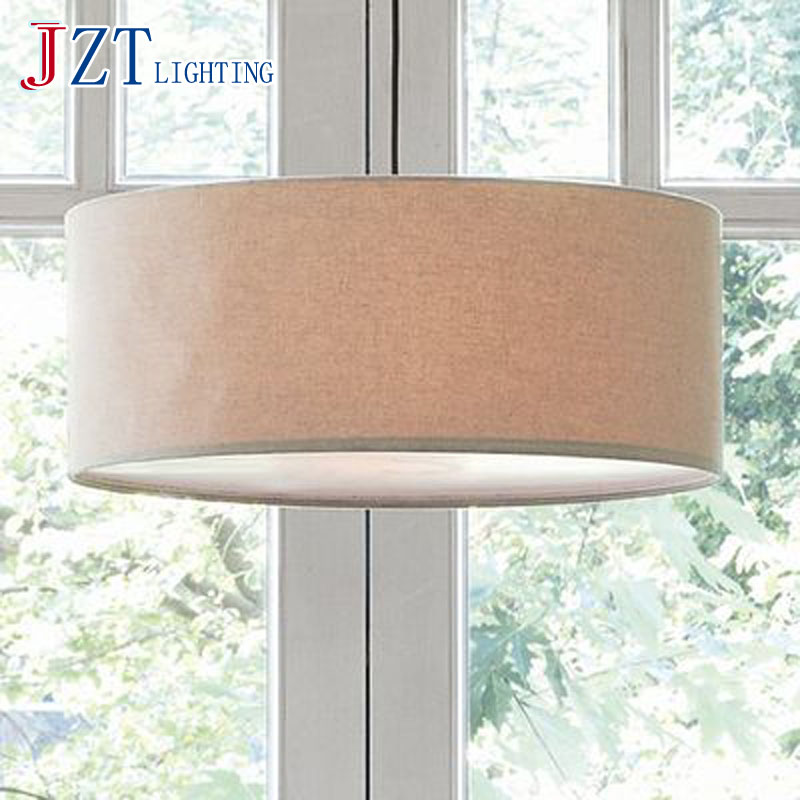 T Circular Village style lighting SIimple soft indoor droplight for Bedroom coffee shop Countryside 9W Diameter50&#038;<font><b>60cm</b></font>