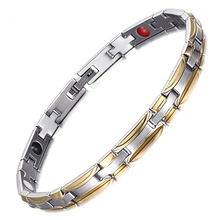 Stainless Steel Womens Fine Bracelet European and American Fashion Explosive Four-in-one